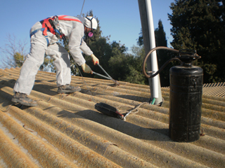 Replacement of asbestos roofs